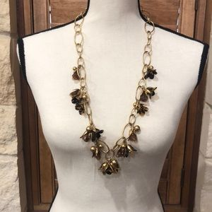 J Crew Tortoise Shell Necklace NWT